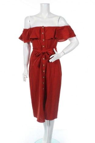 Šaty  Zara Trafaluc, Veľkosť M, Farba Červená, 55% ľan, 45% viskóza, Cena  15,21€