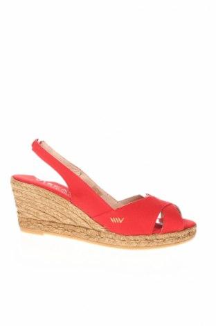 Sandale Viscata, Mărime 40, Culoare Roșu, Textil, Preț 82,11 Lei