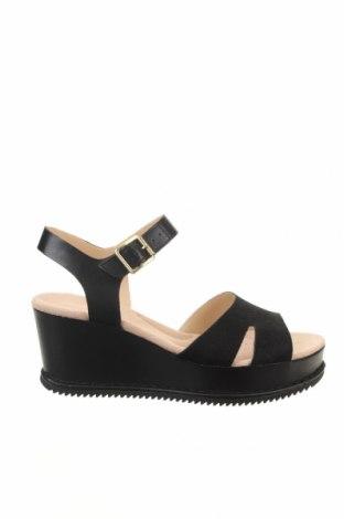 Sandále Clarks, Veľkosť 37, Farba Čierna, Pravá koža , prírodná kožušina , Cena  42,62€