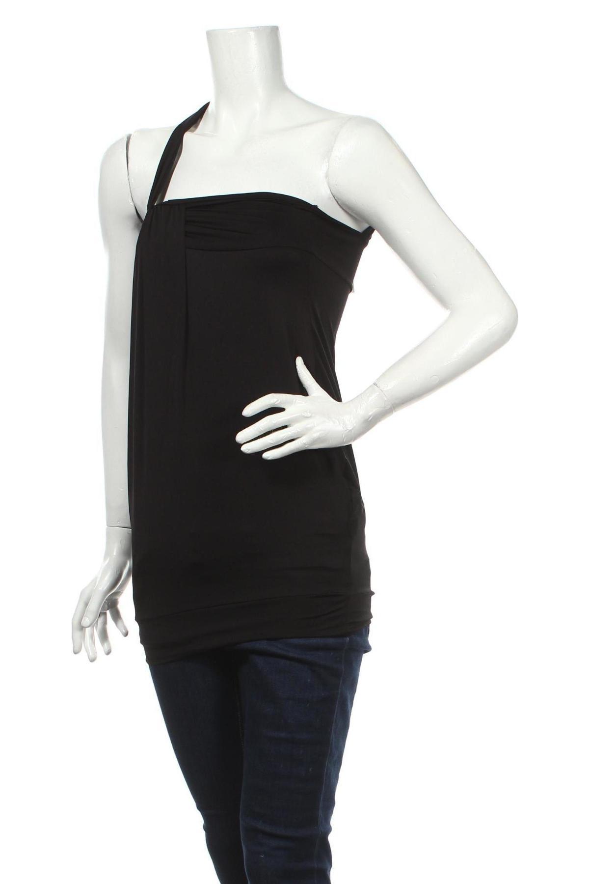 Γυναικείο αμάνικο μπλουζάκι Phard, Μέγεθος XS, Χρώμα Μαύρο, 95% πολυεστέρας, 5% ελαστάνη, Τιμή 3,64€