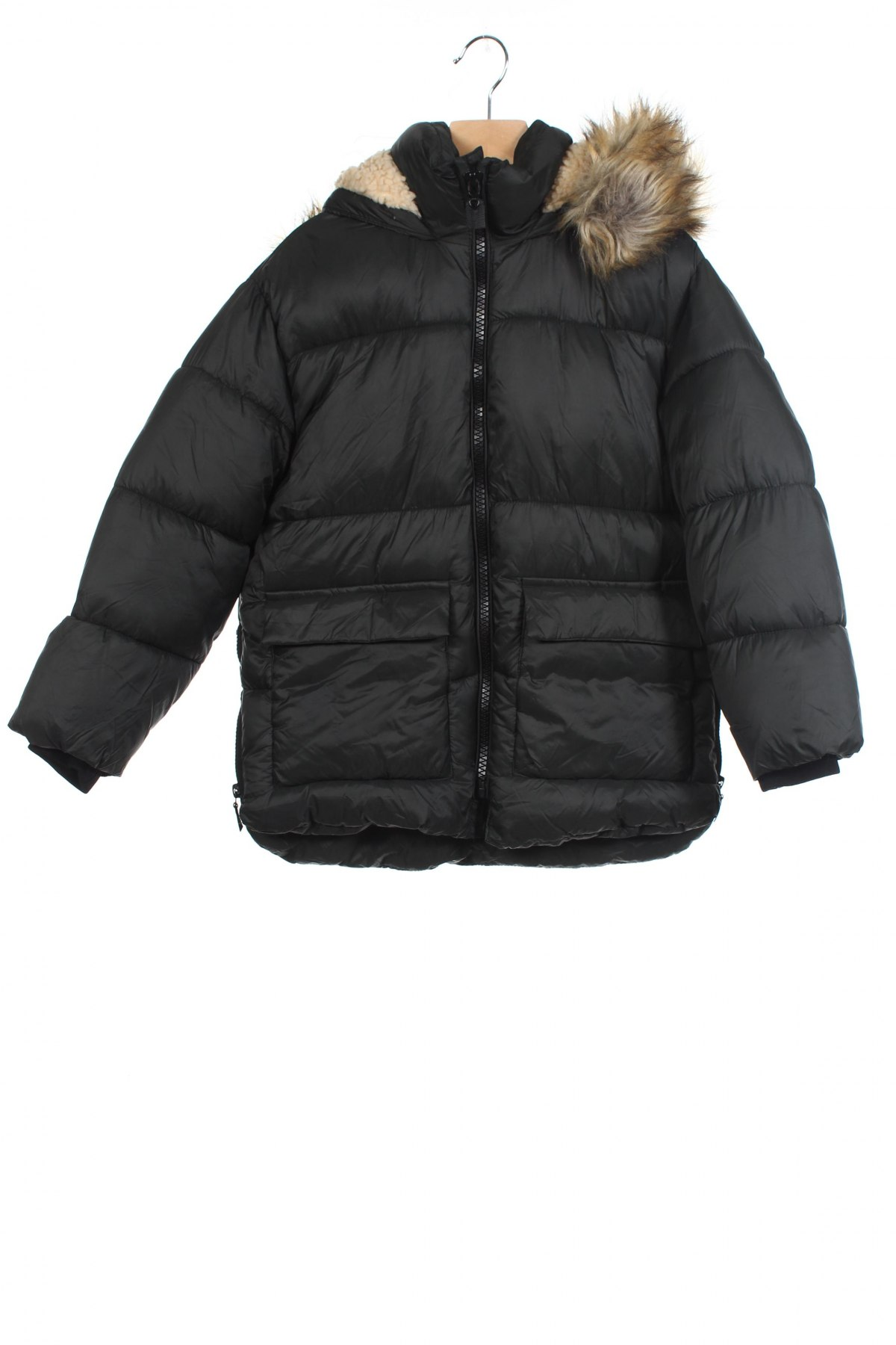 Детско яке Zara Kids, Размер 7-8y/ 128-134 см, Цвят Зелен, Полиамид, Цена 75,84лв.