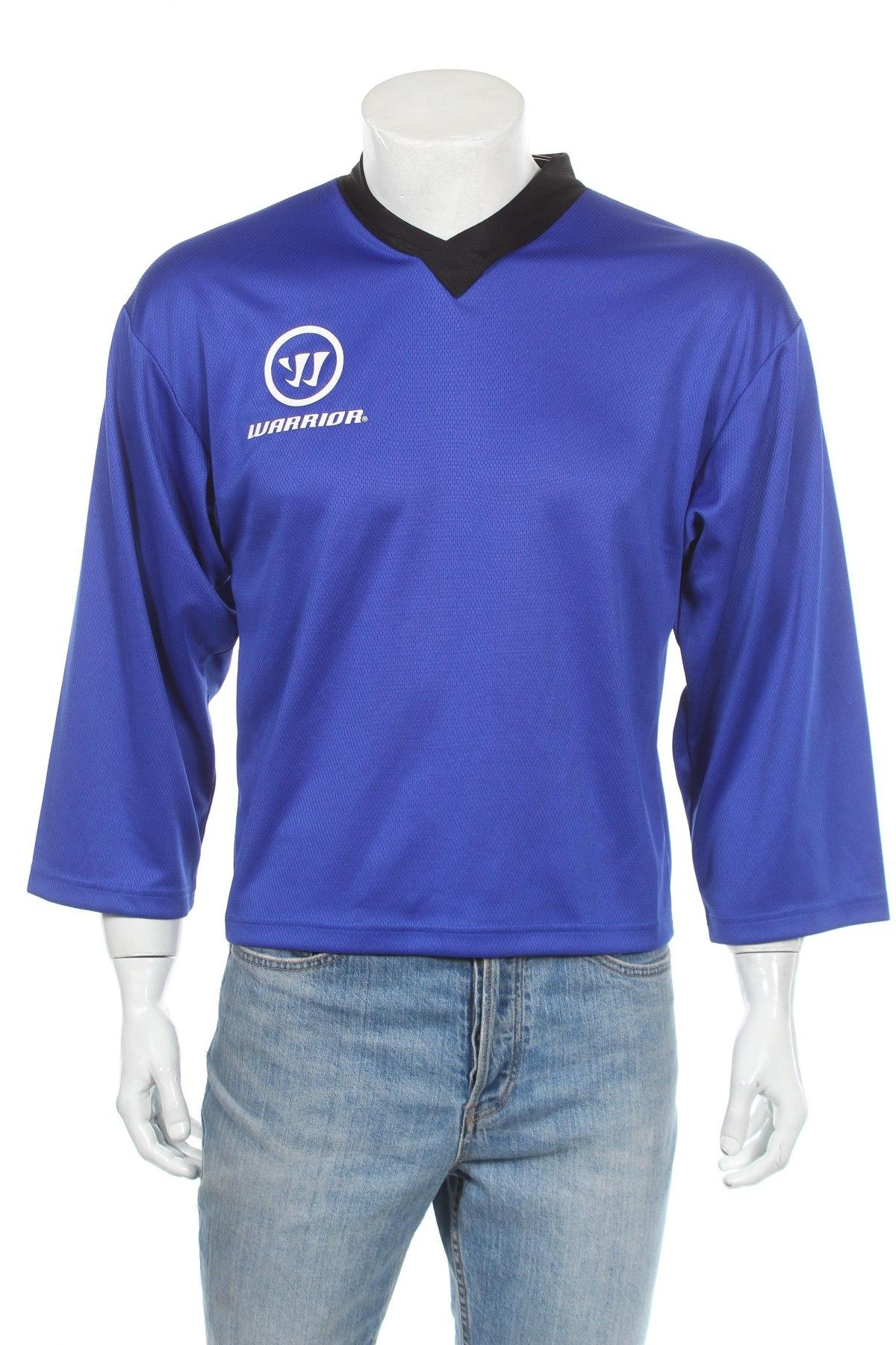 Мъжка спортна блуза Warrior, Размер S, Цвят Син, Полиестер, Цена 11,70лв.