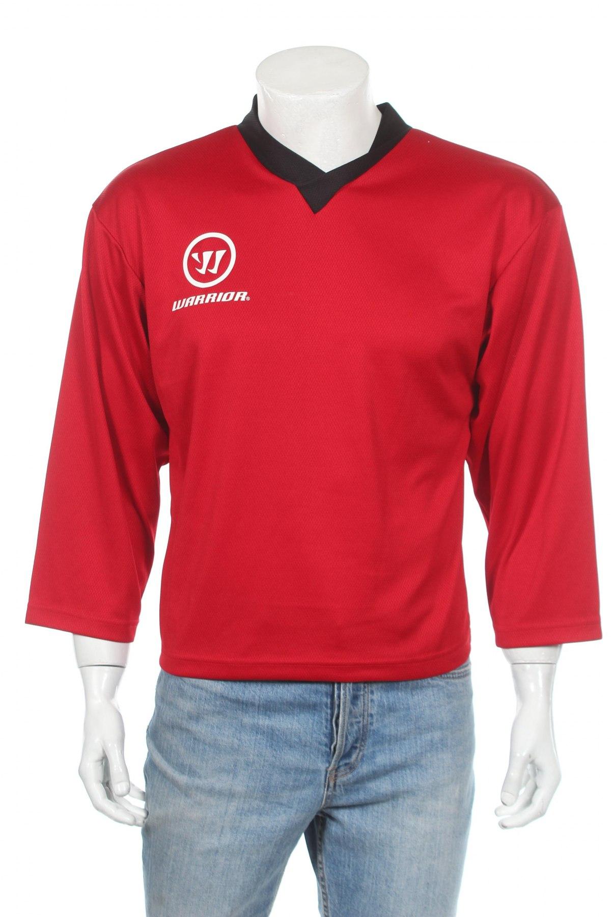 Мъжка спортна блуза Warrior, Размер XS, Цвят Червен, Полиестер, Цена 9,60лв.