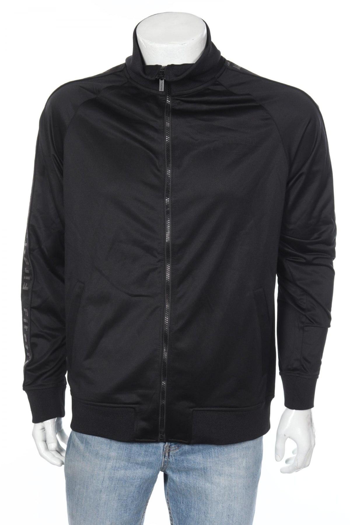 Мъжко спортно горнище Firetrap, Размер XL, Цвят Черен, Полиестер, Цена 23,70лв.