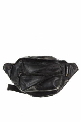 Чанта за кръст National Geographic, Цвят Черен, Еко кожа, Цена 29,40лв.