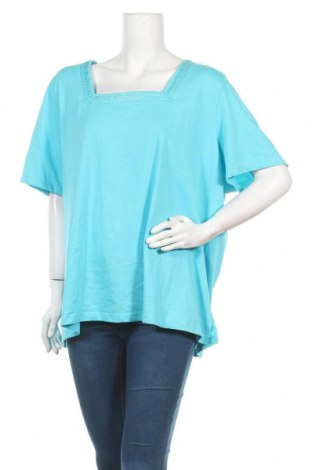 Γυναικεία μπλούζα Alia, Μέγεθος 3XL, Χρώμα Μπλέ, 60% βαμβάκι, 40% πολυεστέρας, Τιμή 7,18€