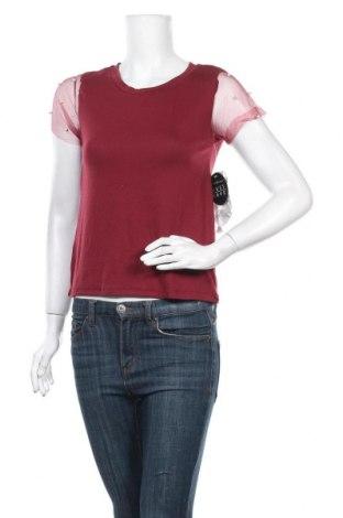 Дамска блуза Almost Famous, Размер M, Цвят Червен, 95% полиестер, 5% еластан, Цена 7,25лв.