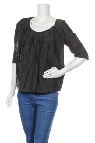 Дамска блуза COS, Размер L, Цвят Сив, 75% памук, 25% коприна, Цена 32,40лв.