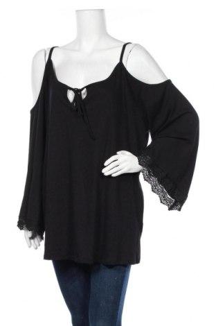 Γυναικεία μπλούζα Curvaceous, Μέγεθος 4XL, Χρώμα Μαύρο, 95% βαμβάκι, 5% ελαστάνη, Τιμή 17,54€