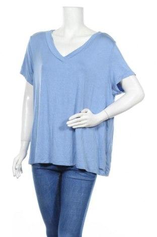 Дамска блуза Essentials by Tchibo, Размер XXL, Цвят Син, 95% вискоза, 5% еластан, Цена 14,28лв.