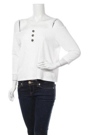 Дамска блуза Even&Odd, Размер L, Цвят Бял, 60% полиестер, 35% вискоза, 5% еластан, Цена 24,48лв.