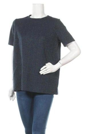 Bluză de femei Even&Odd, Mărime XL, Culoare Albastru, 87% bumbac, 13% fire din metal, Preț 50,40 Lei