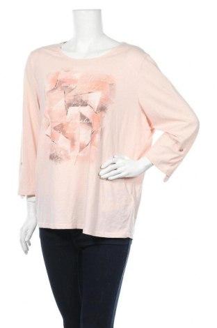 Дамска блуза G.W., Размер XXL, Цвят Розов, Памук, полиестер, Цена 28,56лв.