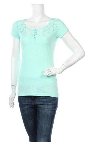 Дамска блуза Gina, Размер S, Цвят Зелен, 100% памук, Цена 16,80лв.