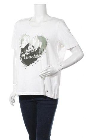 Γυναικεία μπλούζα Gina Laura, Μέγεθος XL, Χρώμα Λευκό, 95% βαμβάκι, 5% ελαστάνη, Τιμή 3,64€