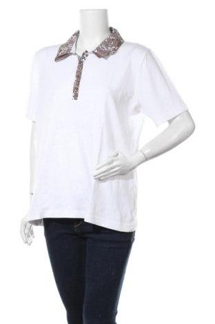 Γυναικεία μπλούζα Gina Laura, Μέγεθος XL, Χρώμα Λευκό, Βαμβάκι, Τιμή 3,86€