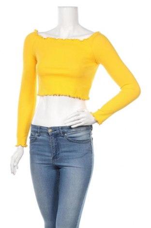 Γυναικεία μπλούζα H&M, Μέγεθος S, Χρώμα Κίτρινο, 55% βαμβάκι, 36% πολυεστέρας, 9% ελαστάνη, Τιμή 8,18€