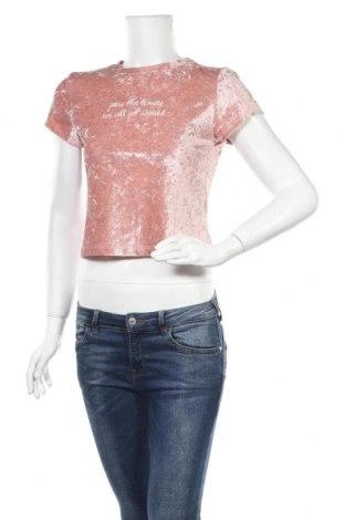 Дамска блуза H&M Divided, Размер M, Цвят Розов, 96% полиестер, 4% еластан, Цена 17,85лв.