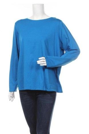 Дамска блуза Land's End, Размер 3XL, Цвят Син, 56% памук, 38% модал, 6% еластан, Цена 10,24лв.