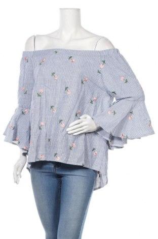 Дамска блуза My Hailys, Размер XXL, Цвят Син, 55% памук, 45% полиестер, Цена 19,95лв.