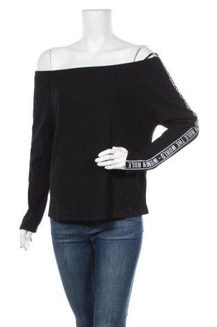 Дамска блуза Page One, Размер L, Цвят Черен, 63% полиестер, 26% вискоза, 9% еластан, Цена 16,80лв.