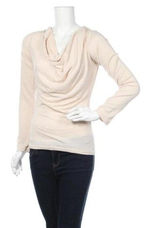 Γυναικεία μπλούζα Poof, Μέγεθος L, Χρώμα  Μπέζ, 60% βαμβάκι, 35% βισκόζη, 5% ελαστάνη, Τιμή 6,14€