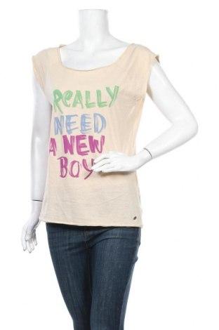 Γυναικεία μπλούζα Replay, Μέγεθος M, Χρώμα  Μπέζ, Βαμβάκι, Τιμή 20,98€