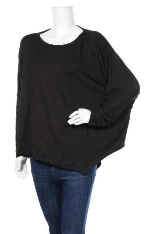 Дамска блуза Seed, Размер L, Цвят Черен, 95% модал, 5% еластан, Цена 22,05лв.