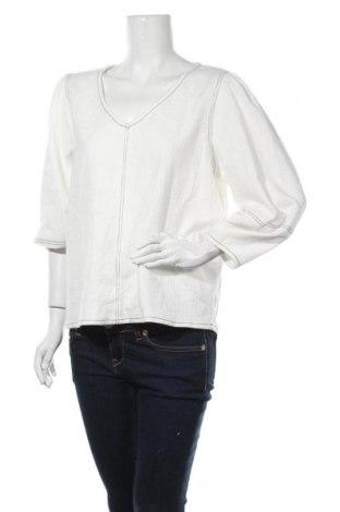 Дамска блуза Seed, Размер XL, Цвят Бял, 49% полиестер, 48% памук, 3% еластан, Цена 13,97лв.