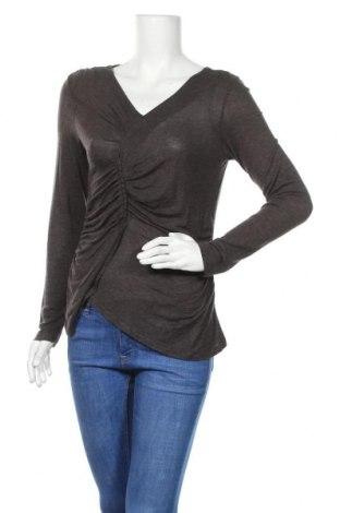 Γυναικεία μπλούζα Tom Tailor, Μέγεθος S, Χρώμα Καφέ, 74% βισκόζη, 18%ακρυλικό, 8% ελαστάνη, Τιμή 13,46€
