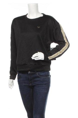 Дамска блуза True Religion, Размер XS, Цвят Черен, 50% памук, 50% полиестер, Цена 74,12лв.