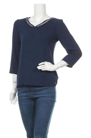 Γυναικεία μπλούζα Un Deux Trois, Μέγεθος M, Χρώμα Μπλέ, 97% πολυεστέρας, 3% ελαστάνη, Τιμή 14,13€