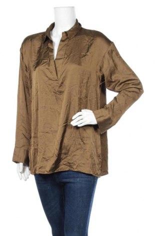 Дамска блуза Uniqlo, Размер L, Цвят Зелен, Полиестер, Цена 14,18лв.