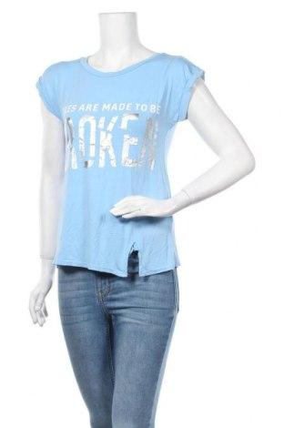Γυναικεία μπλούζα Vert De Rage, Μέγεθος M, Χρώμα Μπλέ, 95% βισκόζη, 5% ελαστάνη, Τιμή 3,86€
