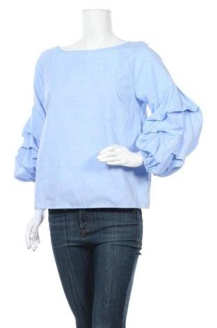 Дамска блуза Viva, Размер M, Цвят Син, 75% полиестер, 25% памук, Цена 18,95лв.
