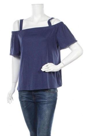 Γυναικεία μπλούζα Woman By Tchibo, Μέγεθος L, Χρώμα Μπλέ, 65% πολυεστέρας, 35% βισκόζη, Τιμή 11,04€