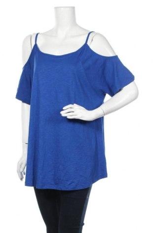 Дамска блуза Yours, Размер XXL, Цвят Син, 50% памук, 50% модал, Цена 17,01лв.