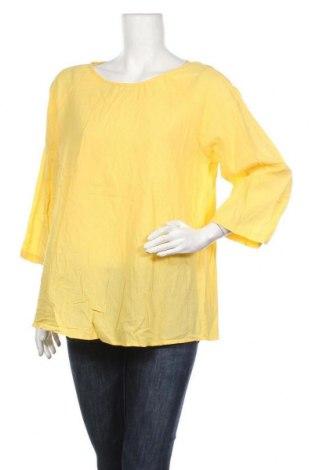 Дамска блуза Zanzea, Размер XL, Цвят Жълт, Памук, Цена 29,40лв.