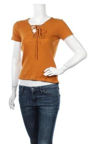 Γυναικεία μπλούζα Zara Trafaluc, Μέγεθος S, Χρώμα Καφέ, Βαμβάκι, Τιμή 9,74€