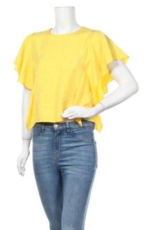 Γυναικεία μπλούζα Zara Trafaluc, Μέγεθος XS, Χρώμα Κίτρινο, Lyocell, Τιμή 18,19€