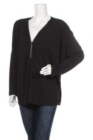 Дамска блуза Zhenzi, Размер M, Цвят Черен, 92% полиестер, 8% еластан, Цена 15,12лв.