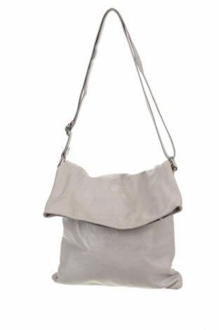 Дамска чанта, Цвят Сив, Естествена кожа, Цена 31,92лв.