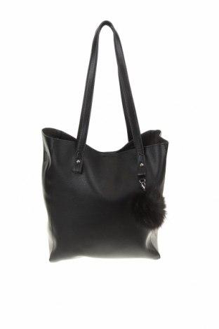 Дамска чанта C&A, Цвят Черен, Еко кожа, Цена 22,68лв.