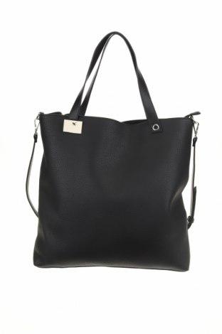 Дамска чанта Cropp, Цвят Черен, Еко кожа, Цена 46,92лв.