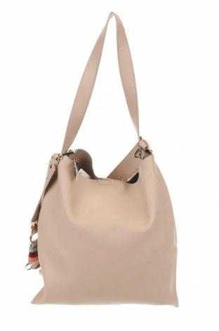 Дамска чанта Cropp, Цвят Бежов, Еко кожа, Цена 69,00лв.