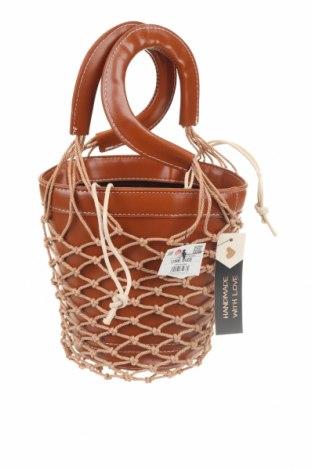 Дамска чанта Cropp, Цвят Кафяв, Еко кожа, Цена 59,00лв.
