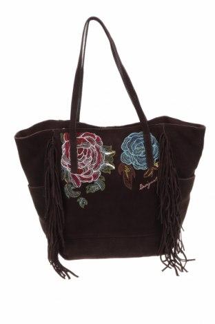 Γυναικεία τσάντα Desigual, Χρώμα Καφέ, Φυσικό σουέτ, Τιμή 37,58€