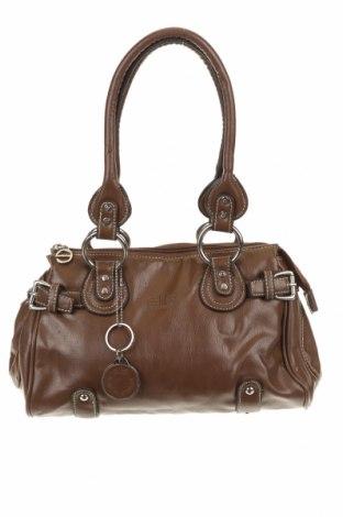 Дамска чанта Elite, Цвят Кафяв, Еко кожа, Цена 25,58лв.