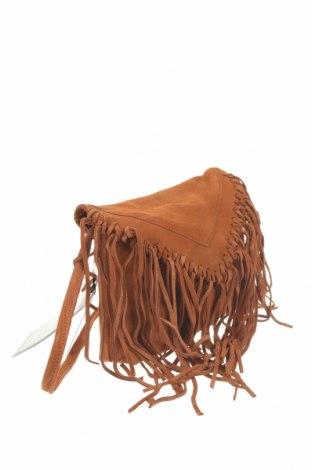 Дамска чанта Mohito, Цвят Кафяв, Естествен велур, Цена 42,57лв.