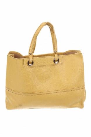 Дамска чанта Oroton, Цвят Жълт, Естествена кожа, Цена 70,56лв.